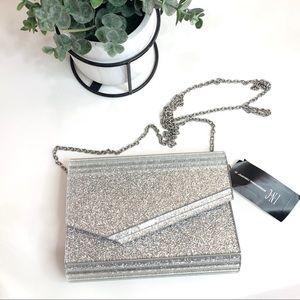 INC Maria Envelope Glitter Clutch Shoulder Bag